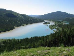 Hootaliqua, der Zusammenfluß von Yukon und Teslin River