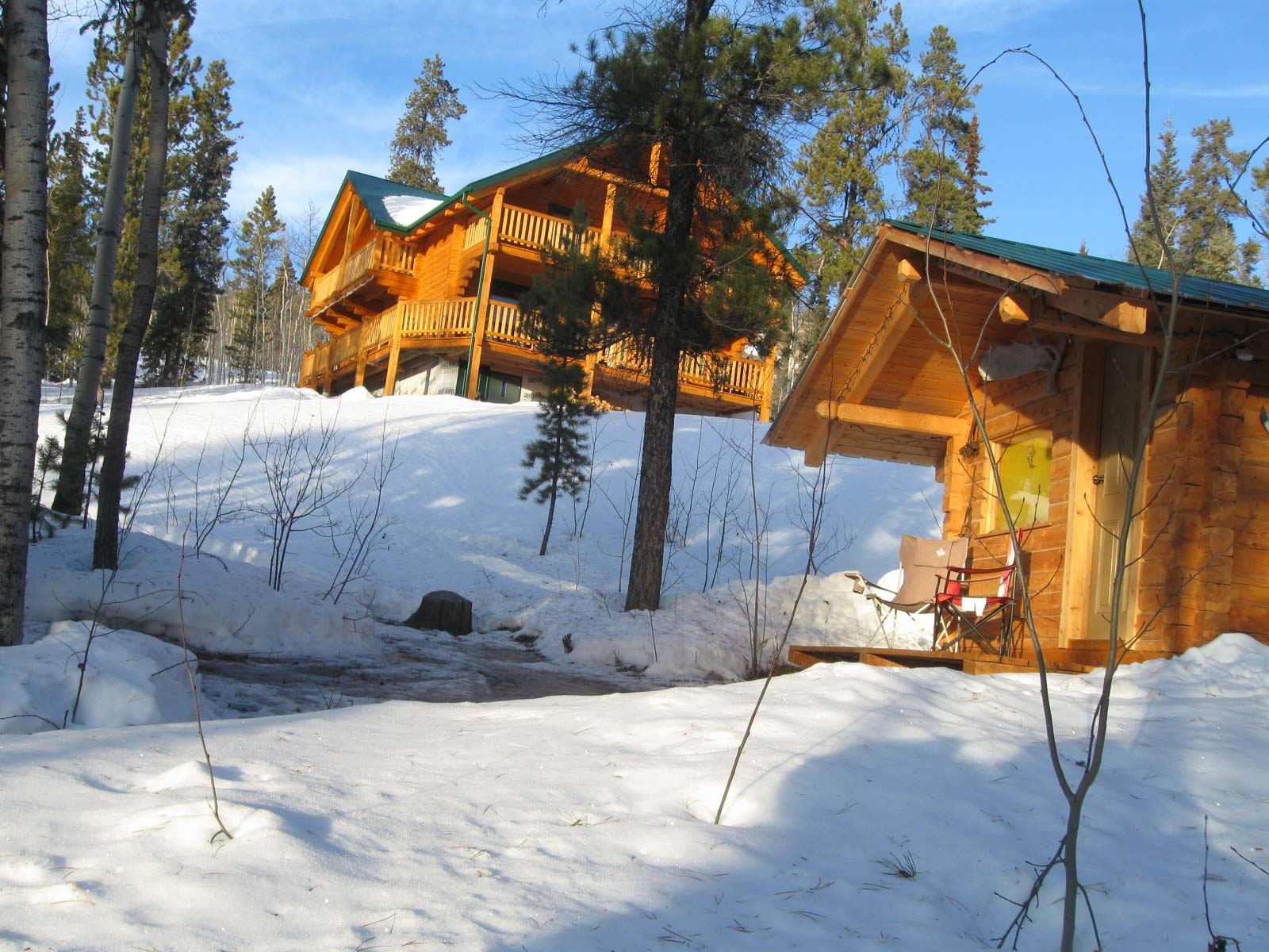 Log Cabin Rental In The Yukon At Otter Island Or Pilot Mountain