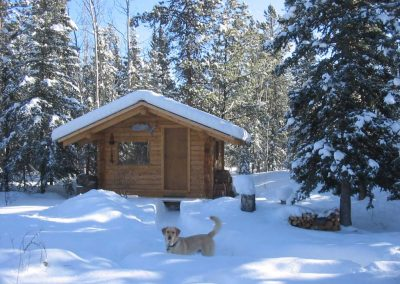 Our Log Cabin in the winter