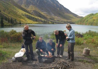 Barbeque Sausages for Lunch at Saint Elias Lake