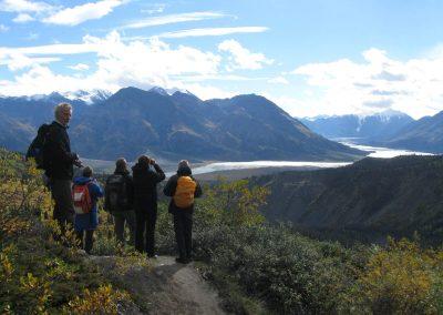 view on Kaskawulsh Glacier from Sheep Creek Hike