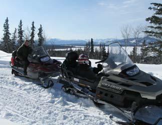 Schneemobil-Abenteuer