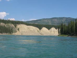 "Crystal clear water along the ""30 Mile"" Yukon River"