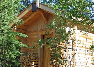 the smaller Log Cabin