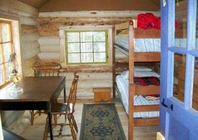 Bunk bed in the smaller Log Cabin