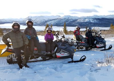 Snowmobile trip with family