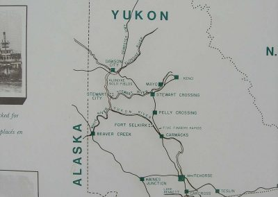 Yukon River map, Whitehorse to Dawson City
